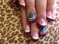 Fourth if July nails
