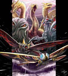 All Godzilla Monsters, Ghost Rider, Deviantart, Mystic, Universe, Creatures, King, Japan, Fantasy