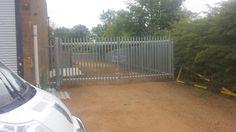 Palisade heavy duty industrial manual gates installed near Stamford.
