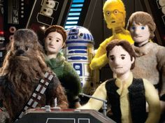 """Star Wars Epic Yarns"" Recreates Original Trilogy With Needle-Felting   Ecouterre"