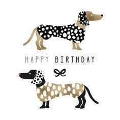 Rebecca Prinn - RP Birthday Black And Gold Sausage Dogs