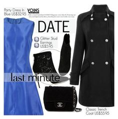 """Yoins 11:Last Minute Date"" by pokadoll ❤ liked on Polyvore featuring Chanel, Dolce&Gabbana, women's clothing, women, female, woman, misses, juniors, MustHave and winter2015"