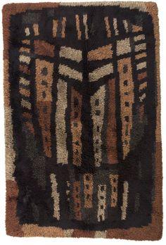 Hand-Knotted Wool Rya Rug for Sellgren, Rya Rug, Mid Century Rug, Rugs On Carpet, Carpets, Kinds Of Fabric, Weaving Textiles, Mid Century Modern Furniture, Rug Hooking, Floor Rugs