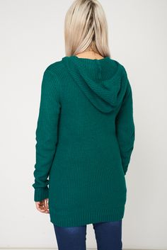 Hooded Knitted Jumper With Pom Pom.Buy it now for £8.99