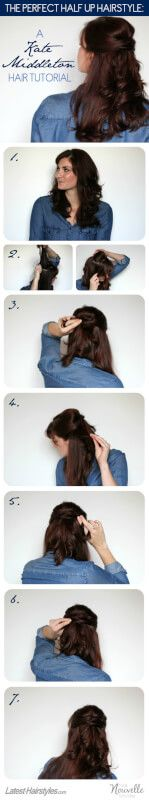 Half updos are elegant & beautiful, perfect for special occasions. We'll show you how to create gorgeous half updo hairstyles! Half Updo Hairstyles, Latest Hairstyles, Updos, Kate Middleton Hair, Long Hair Styles, Elegant, Beautiful, Beauty, Fashion