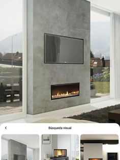 Fireplace Design, Portal, Tv, Home Decor, Wall, Houses, Fire Places, Living Room, Decoration Home