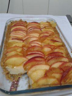 Foto da receita: Torta de maçã com creme