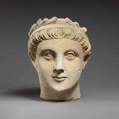 Limestone head of a wreathed youth   Cypriot   Classical   The Met