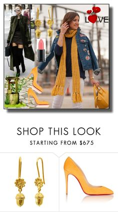 """""""set 33"""" by fahirade ❤ liked on Polyvore featuring ANNA, MELLOW YELLOW, Christian Louboutin and MAC Cosmetics"""