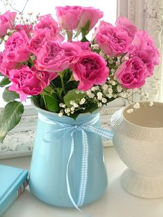 pink roses via sweet berry me