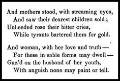 Frances Ellen Watkins Harper: Abolitionist, Poet, Activist: From The Slave Auction by Frances E.W. Harper