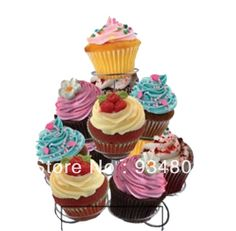 High-quality metal cupcake stand stree with 3 tiers to hold 11 wedding cupcakes $15.00 Cupcake Stand Wedding, Wedding Cupcakes, Mini Cupcakes, Hold On, Metal, Desserts, Food, Tailgate Desserts, Deserts