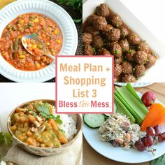 Free Meal Plan - Perfect Family Meal Plan with Shopping List Included! No more questions about what to make for dinner