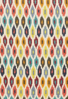 Sunara Ikat in Confetti ~ Schumacher  Co. I want to make pillows with this pattern!
