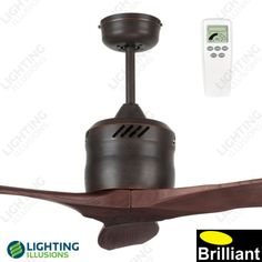 """Antique Bronze Galaxy 54"""" Propeller Style DC Ceiling Fan With Remote - Shop"""