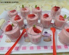 Mousses aux fraises sans oeufs