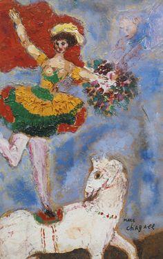 L'écuyère au cheval blanc (ca. 1927) - Marc Chagall