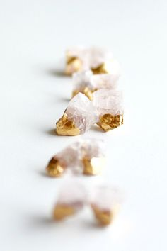 Wear raw rose quartz, with the just the right amount of sparkle.