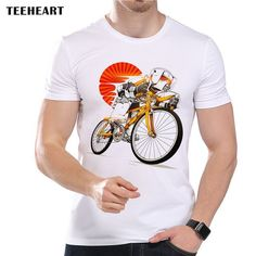 Men's Imperial Stormtrooper on Bicycle Print T-Shirt Cool Summer Modal Movie Hipster Top Tees