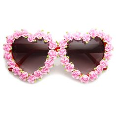 Valentines Womens Floral Heart Sunglasses Handmade Pink Flower Decor from frameandoptic on Etsy. Flower Sunglasses, Pink Sunglasses, Cheap Ray Ban Sunglasses, Sunnies, Oakley Sunglasses, Novelty Sunglasses, Discount Sunglasses, Sunglasses Store, Summer Sunglasses