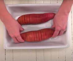 Delicious Sweet Potato Recipe I Wish I Knew Years Ago Hasselback Sweet Potatoes, Sweet Potato Latkes, Sweet Potato Recipes, Vegetable Recipes, Sliced Potatoes, Soup Recipes, Cooking Recipes, Easy Recipes, Potato Side Dishes