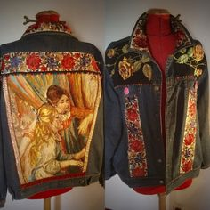 Upcycle, Couture, Denim, Clothing, Jackets, Fashion, Down Vest, Jacket, Canvas