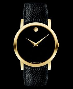 Movado <3 #watche #montre #fashion #black&gold #movado