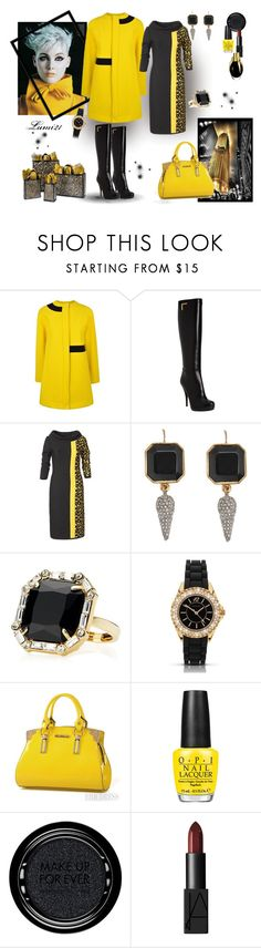 """""""yellow autumn"""" by lumi-21 ❤ liked on Polyvore featuring Kenzo, Fendi, Juicy Couture, Sekonda, OPI, MAKE UP FOR EVER and NARS Cosmetics"""