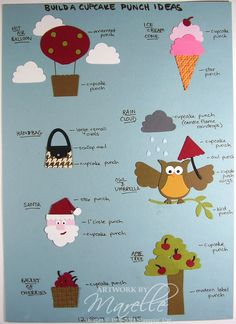 Marelle Taylor Stampin' Up! Demonstrator Sydney Australia: Cupcake Punch Ideas Sheet