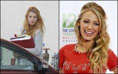 Blake Lively, con y sin maquillaje. Casada con el actor Ryan Reynolds, se hizo conocida por su papel de Serena van der Woodsen en la serie de televisión 'Gossip Girl'