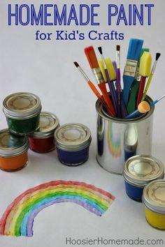 Homemade Paint for Kid's Crafts   from HoosierHomemade.com