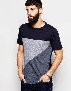 River Island Block Colour Cut and Sew T-Shirt