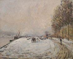 Armand Guillaumin - Quai Saint-Bernard sous la neige 1882
