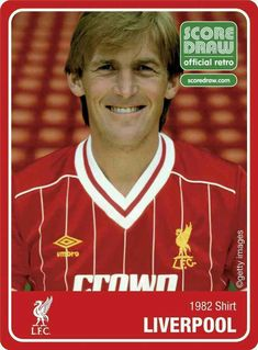 Kenny Dalglish of Liverpool in 1982.