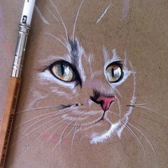 ideas drawing ideas love pencil inspiration is part of pencil-drawings - pencil-drawings Cat Drawing, Painting & Drawing, Drawing Ideas, Art Pastel, Color Pencil Art, Animal Drawings, Drawing Animals, Drawings Of Cats, Horse Drawings