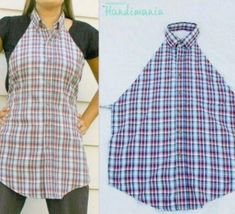 DIY Creative Shirt Apron diy crafts crafty diy clothes diy apron awesome for cheap goodwill old shirts ! Sewing Hacks, Sewing Crafts, Sewing Projects, Diy Crafts, Diy Projects, Sewing Ideas, Ideas Paso A Paso, Learn To Sew, How To Make