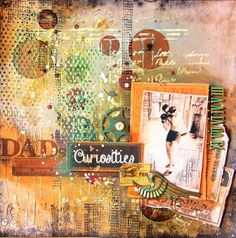 Scrap Paula - Curiosities Scrapbook Layout from our Glue Dots and Marion Smith Designs Blog Hop!
