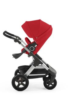 Stokke® Trailz Red with Seat –Two-way Facing Seat & Multiple Recline options too!
