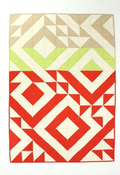 Geometric Unisex Baby Quilt or Toddler Quilt by MelissaHevey
