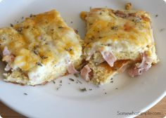 This Croissant Omelet Breakfast Casserole is super tasty and very easy to prepare. It is the perfect meal to toss in the oven for breakfast if you're feeding over-night guests, but it is also a simple dinner that feeds a crowd without breaking the bank. My grandma used to make a similar casserole with eggs and cheese, but the croissant
