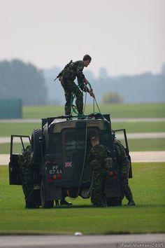Royal Marines Preparing Airdrop Land Rover Defender XD 90 Tdi FFR