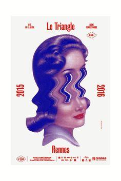 Le Triangle by Brest Brest Brest Poster Design, Graphic Design Posters, Graphic Design Typography, Graphic Design Inspiration, Book Design, Layout Design, Design Art, Print Design, 90s Design