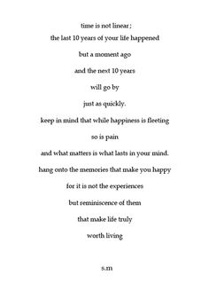 Really like this...life goes by fast, hang on to every moment because it'd the little things that make life worth it
