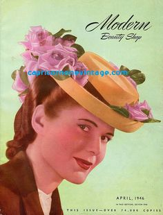 April 1946 Modern Beauty Shop Magazine Hair Styles Hair Dressing How To Beauty Salon Vintage