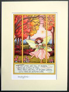 Mary Engelbreit adorable Fall print