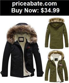 Women-Coats-And-Jackets: Women Warm Fur Collar Hooded Parka Winter Thick Down Coat Outwear Down Jacket - BUY IT NOW ONLY $34.99