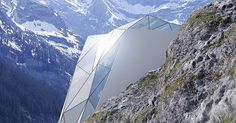 Designer Andrii Rozhko created Hotel in Alps, a conceptual design for dazzling lodging on an Alps mountaintop. European Mountain Ranges, Alpine Hotel, Cliff House, Most Luxurious Hotels, Conceptual Design, Hotel Interiors, Alps, Lodges, Architecture Details