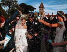 Peaches Geldof In Alberta Ferretti Special Wedding Dress