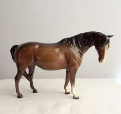 Vintage Beswick horse figurine model number 1812, brown mare, gloss finish by MaisonMaudie