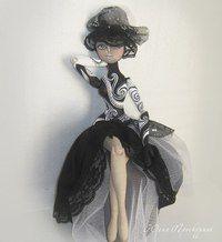 Текстильная шарнирная кукла, выкройка